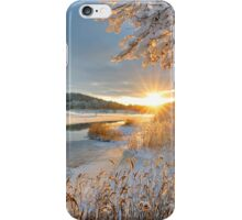 Winter landscape over Storan river iPhone Case/Skin