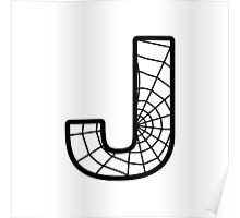 Spiderman J letter Poster