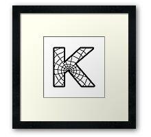 Spiderman K letter Framed Print
