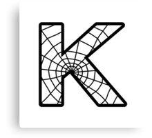 Spiderman K letter Canvas Print