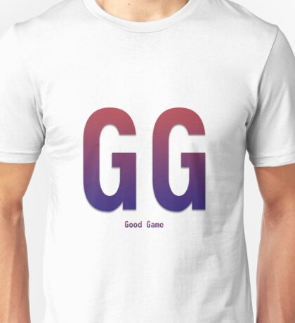 Slogan GG Good game - Bodbeli Unisex T-Shirt