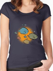 helicopter fishes are coming! Women's Fitted Scoop T-Shirt