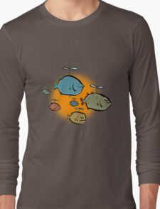 helicopter fishes are coming! Long Sleeve T-Shirt
