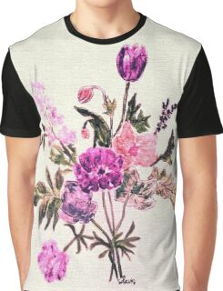 Watercolor Flower 11017 Graphic T-Shirt