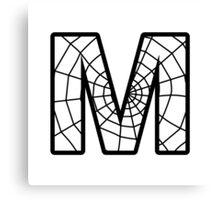 Spiderman M letter Canvas Print