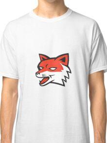 Red Fox Head Growling Retro Classic T-Shirt