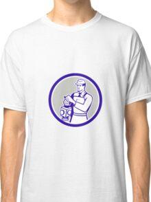 Train Railway Signaller Lamp Circle Retro Classic T-Shirt