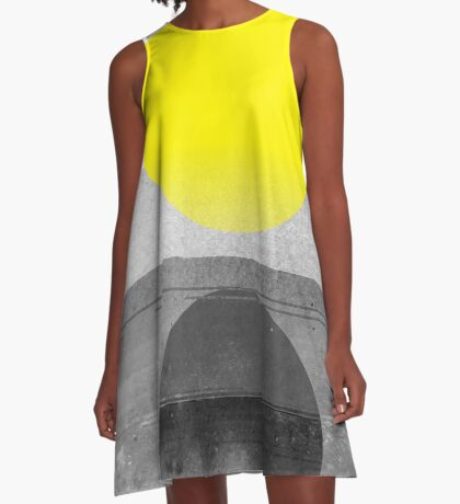 Yellow #abstract  A-Line Dress