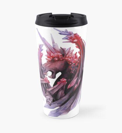 Watercolor crystallizing demonic horse Travel Mug