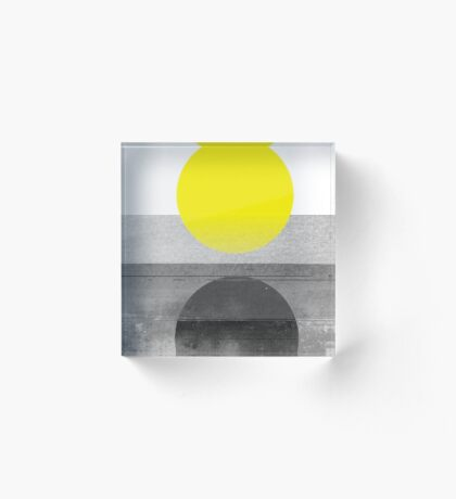 Yellow #abstract  Acrylic Block