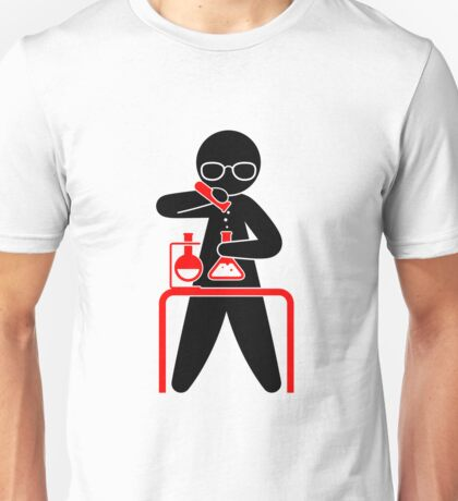 A scientist holding a test tube Unisex T-Shirt