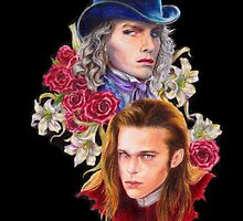 a fanart of Luis and Lestat by Lavender Palemoon