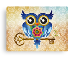 Spring Guardian Owl Canvas Print