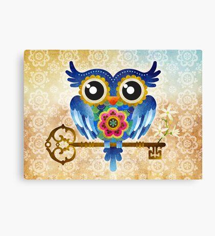 Spring Guardian Owl Canvas Print