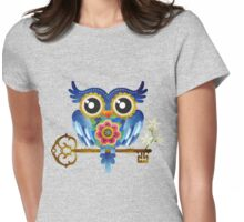 Spring Guardian Owl Womens Fitted T-Shirt