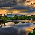 River Laune Sunset by mlphoto