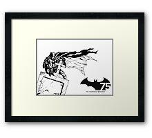 Batman 75th Anniversary Framed Print
