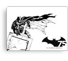 Batman 75th Anniversary Canvas Print