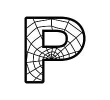 Spiderman P letter Photographic Print