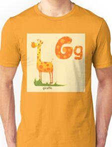 Alphabet_G_giraffe Unisex T-Shirt