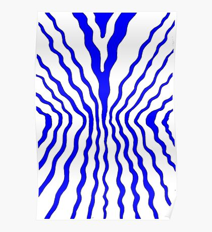 Flow - blue Poster