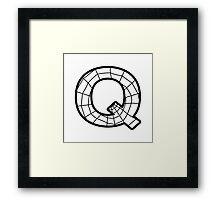 Spiderman Q letter Framed Print