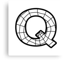 Spiderman Q letter Canvas Print