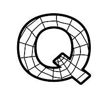 Spiderman Q letter Photographic Print