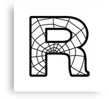 Spiderman R letter Canvas Print