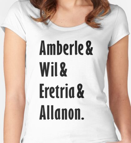 The Shannara Chronicles - Amberle & Wil & Eretria & Allanon Women's Fitted Scoop T-Shirt
