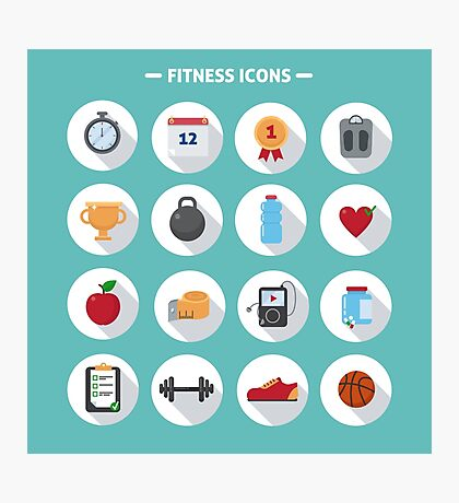 Fitness icons Photographic Print