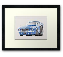 1964 Ford Mustang by Glens Graphix Framed Print