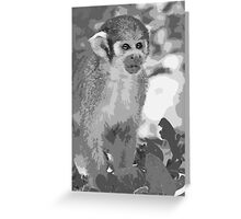 Monkeys 2 p (n&b)(h)  painting ! Olao-Olavia / Okaio Créations Greeting Card