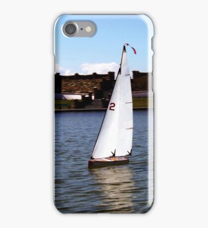 Model Yacht on a Lake iPhone Case/Skin