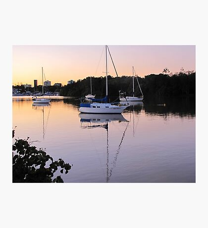 Yachts in the sunset Photographic Print