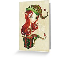 Elfie Elf Greeting Card