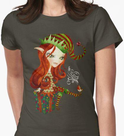 Elfie Elf Womens Fitted T-Shirt