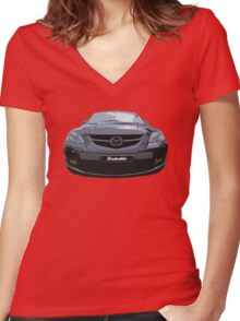 Mazda 3 MPS Women's Fitted V-Neck T-Shirt