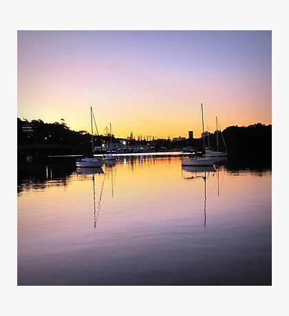 Yachts in the sunset #2 Photographic Print