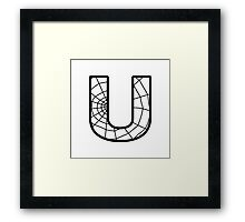 Spiderman U letter Framed Print