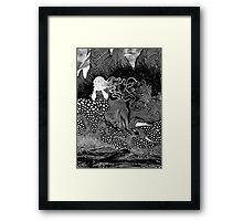 Girl dreaming at the seaside  Framed Print