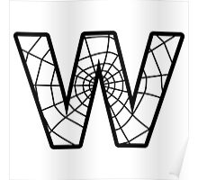 Spiderman W letter Poster