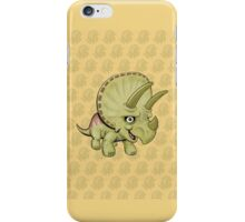 Triceratops Yellow iPhone Case/Skin