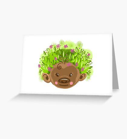 Wild hair day Greeting Card