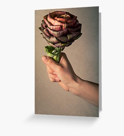 Artichoke flower like a rose Greeting Card