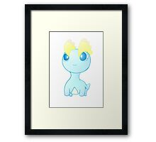 Pokemon Amaura pokedoll chibi design Framed Print