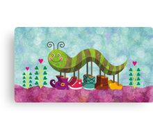 Catty Caterpillar Canvas Print