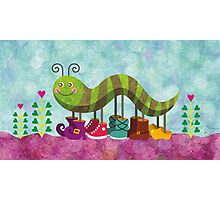Catty Caterpillar Photographic Print