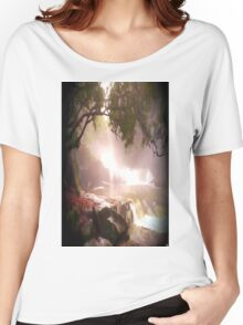 landscape waterfall lake river Women's Relaxed Fit T-Shirt