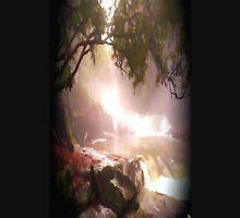 landscape waterfall lake river Unisex T-Shirt